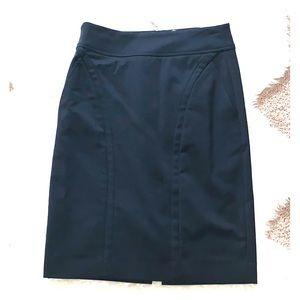 Etcetera Zip Up Black Skirt
